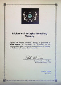 Anna Ryczek - Buteyko Breathing Therapy Diploma